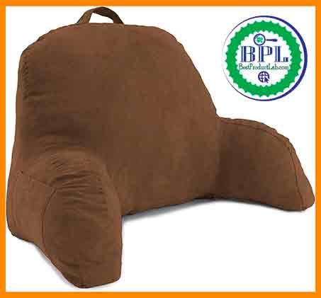 Deluxe Comfort Microsuede Bed Rest Pillow