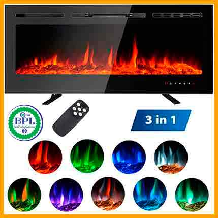 MAXXPRIME 50'' Electric Fireplace Free Standing Fireplace