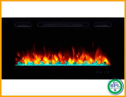 PuraFlame Alice 40'' Recessed Electric Fireplace