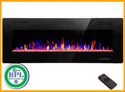 RW Flame 50'' Recessed and Wall Mount Electric Fireplace