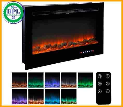 Homedex 36'' Recessed Mounted Electric Fireplace
